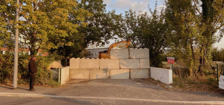 Photo n°1 de la construction d'une barriere de sécurité à Nantes