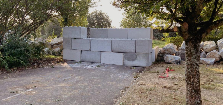 Photo n°2 de la construction d'une barriere de sécurité à Nantes