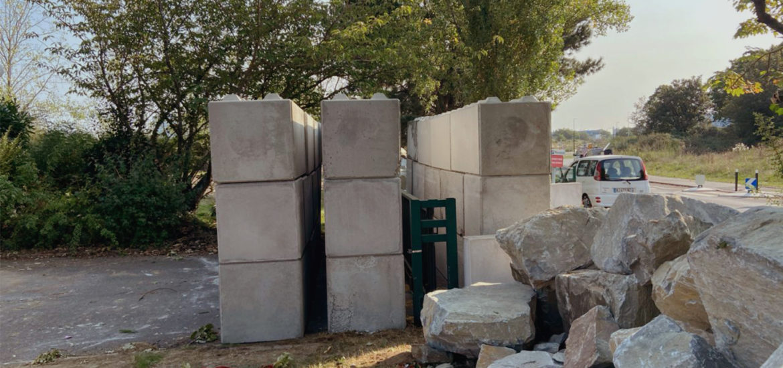 Photo n° de la construction d'une barriere de sécurité à Nantes