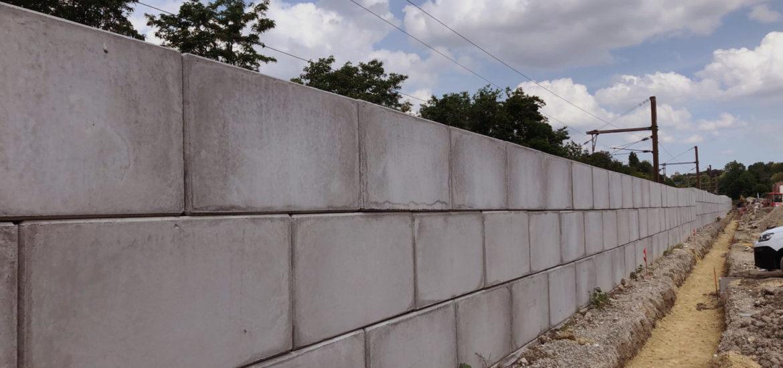 Photo n°1 de la construction d'un mur anti bruit à Chennevière-sur-Marne