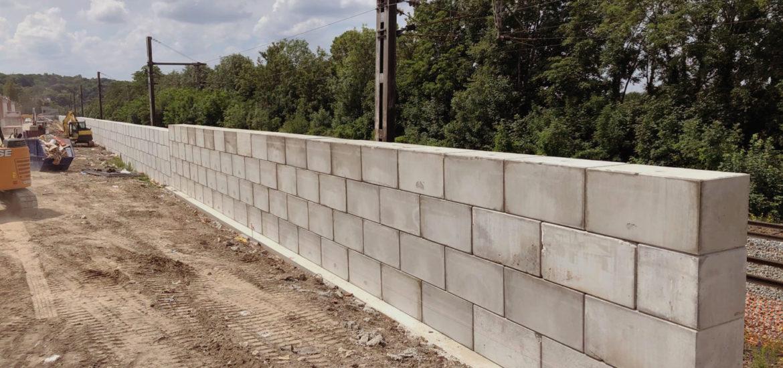 Photo n°2 de la construction d'un mur anti bruit à Chennevière-sur-Marne